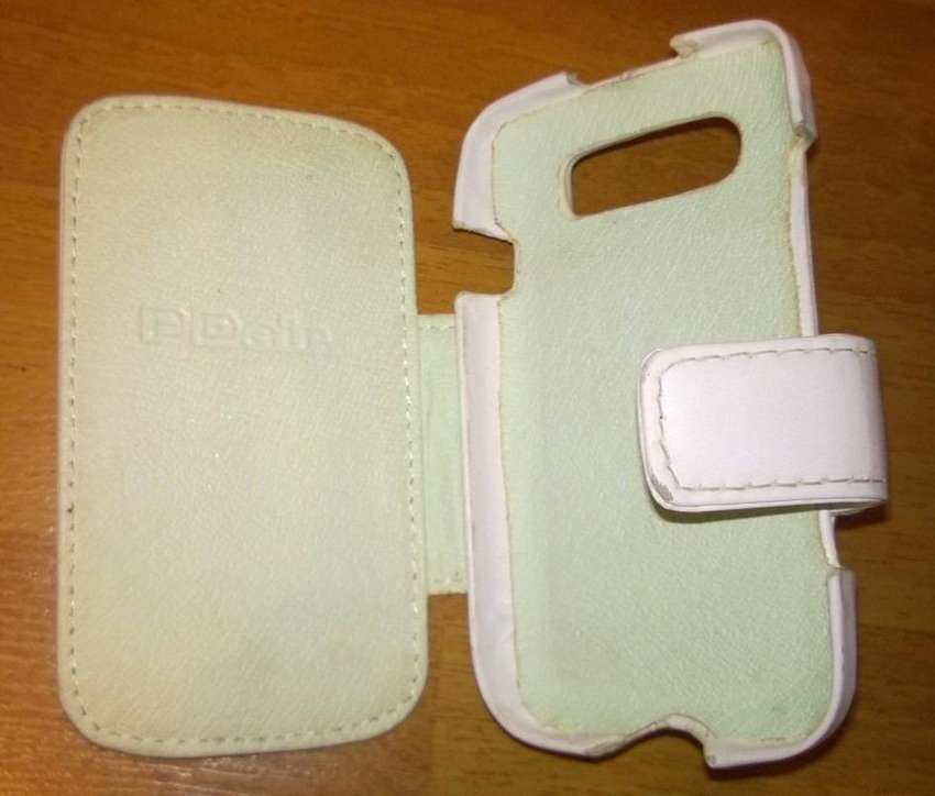 Funda Flip Cover Cuero P/ Blackberry ahorra Energía Batería 0