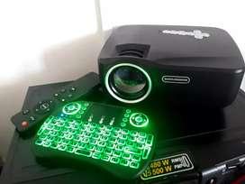 Proyector Led Vídeo Gp70up RAM Bluetooth WiFi 1.200 Lúmenes+ control inalámbrico.