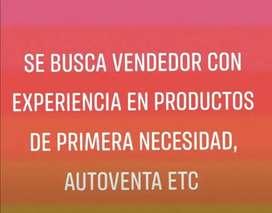 BUSCO VENDEDOR CON EXPERIENCIA EN CONSUMO MASIVO