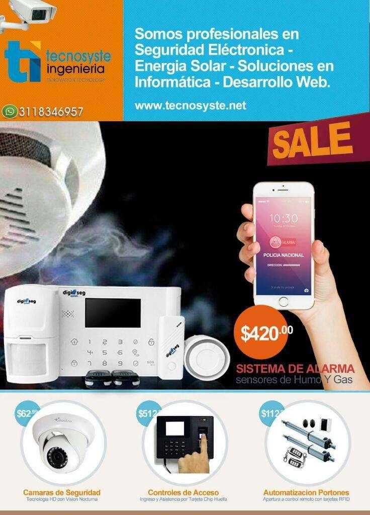 Alarmas Monitoreo 24/7 Detector de Humo 0