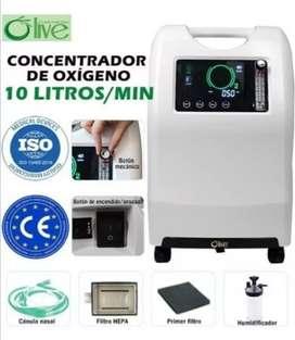 CONCENTRADOR DE OXIGENO OLIVE 10LITROS EN STOCK