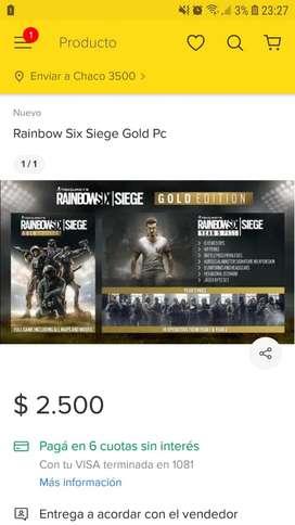 Rainbow Six Siege Edición Gold para pc, (solo para placas nvidia)