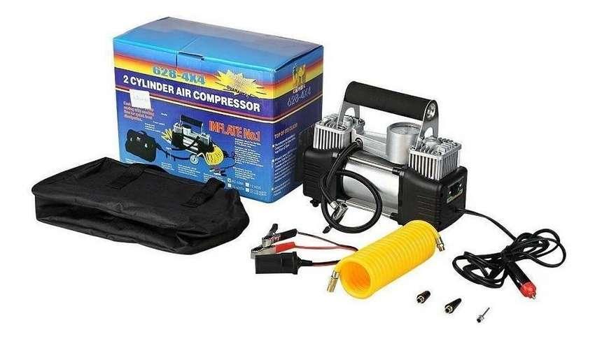Compresor Aire Auto 628-4x4 2 Pistones 12v