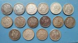 Colección Monedas Morgan 1 De Plata