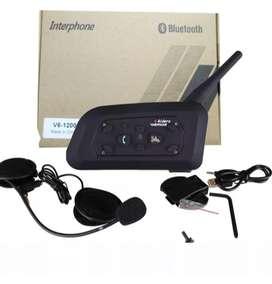 Intercomunicador x2 Casco Moto Bluetooth V6