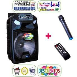 Cabina Sonido 400w Bluetooth Luces LED +Micrófono+ Control, Nuevas, Originales, Garantizadas...