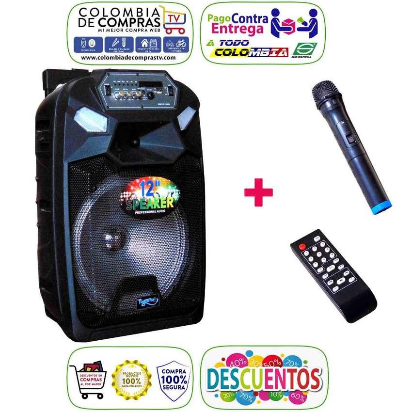 Cabina Sonido 400w Bluetooth Luces LED +Micrófono+ Control, Nuevas, Originales, Garantizadas... 0