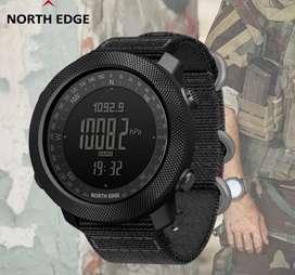 Reloj North Edge 3apache Altímetro Barómetro Brújula Wr 50mt Nuevos Sellados