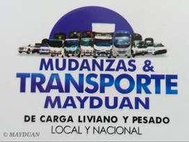 Mudanzas & Transportes Mayduan de Carga Liviano y Pesado. Local y Nacional