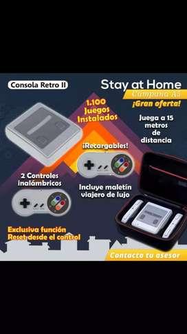 Consola retro, controles inalámbricos