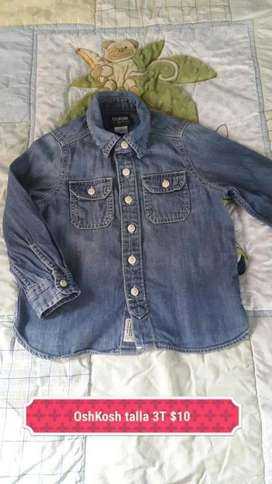 Camisa Jean de Niño Oshkosh Talla 3