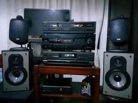 Equipo modular, amplificador yamaha, technics, sansui, pioneer, marantz