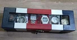 Vendo organizador de relojes de 6 puestos como nuevo