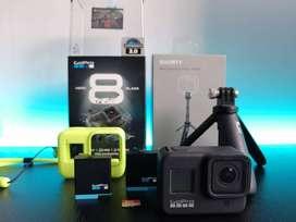 GoPro Hero 8 black + 2 Baterías + Trípode Shorty Go+ Casepro + Sd 32 GB +