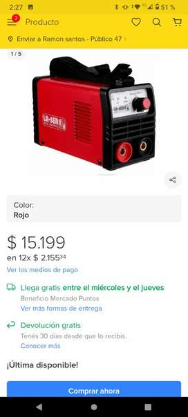 Vendo soldadora laser