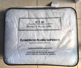 PLUMON 1,5 PLAZAS PLUMA DE GANSO MARCA BASEMENT HOTEL COLLECTION