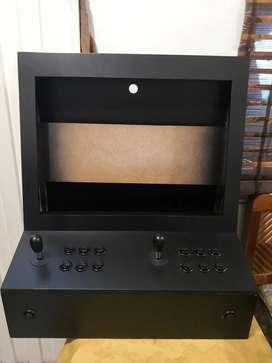 Cajón arcade palancas y botones nueva listo para instalar sistema puede instalar pantalla hasta 24 pulgadas