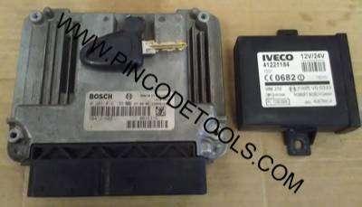 Set Completo de Inyeccion de Iveco Daily  ECU Bosch EDC 16C39  Inmovilizador  Llave 0
