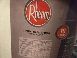 Termotanque rheem eléctrico 85 litros.