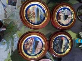Vendo  4 platos Titanic cerámica