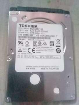 Disco duro Toshiba 2.5 para notebook 1Tera