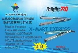 Combo Alisadora Nano Titanium BABYLISSPRO U Styler