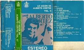 LO MEJOR DE ALBERTO CORTEZ VOL II CASETE STEREO AUDIOMAX