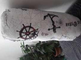 Cojines logo barco medieval