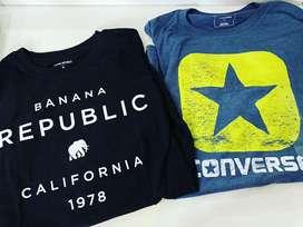 Camisetas originales banana republic y converse