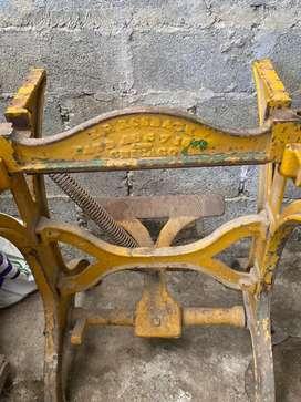 Maquina antigua,proyecto mesa comedor