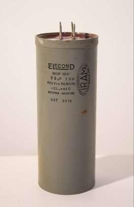 Capacitor de Arranque de Motores de 400V Voltios 25uF Microfaradios