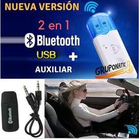 Receptor Usb Bluetooth Para Auto Equipo De Sonido Gruponatic San Miguel Surquillo Independencia La Molina