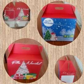 Canasta caja navideña . Decorativo