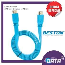 Cable HDMI 4k  Marca Beston. 2, 3 y 5 Metros