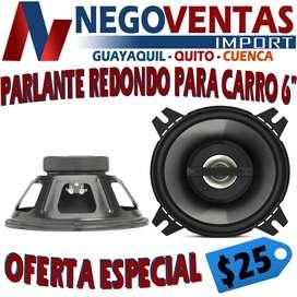 PARLANTES REDONDOS PARA CARROS DE 6 PULGADAS