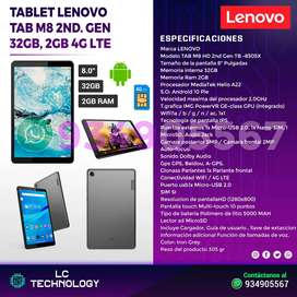 Tablet Lenovo M8 2nd Gen. 32GB 2GB RAM ANDROID 10 4G LTE