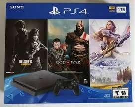 PlayStation 4 Slim 1TB - 3 Juegos incluidos - Todo Nuevo