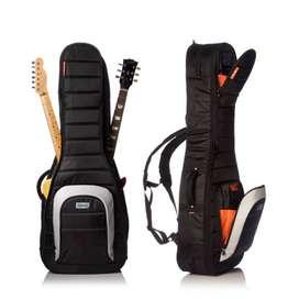 Estuche Mono M802GBLK Music Box Colombia Guitarra electrica doble Negro