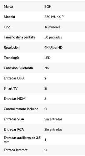 Vendo tv smartv 50 uhd