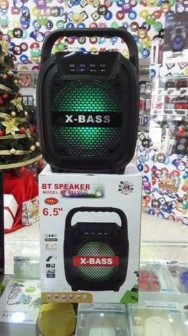 "PARLANTE SPEAKER PORTÁTIL/BLUETOOTH 6,5"" FM-USB-AUX-SD-LED. ENVIOS Y GARANTÍA"
