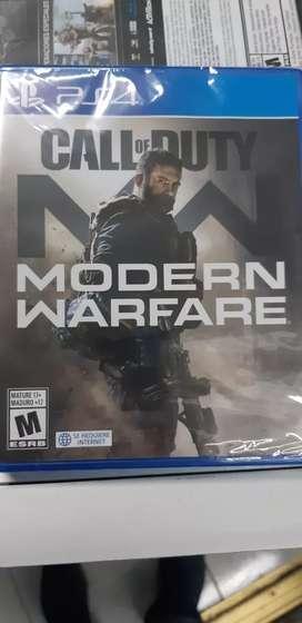 call of duty modern warfare ps4 sellados