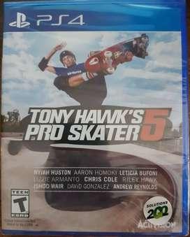 Tony Hawks 5 ps4 nuevo y sellado