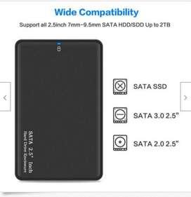 caja de dispositivos de almacenamiento en disco de disco duro externo USB 3.0 portátil de 2.5 pulgadas y 2 TB NUEVO