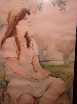 Cuadro, original, Obra sobre cartón, técnica Mixta 70 x100 de, Hermes Pinto,