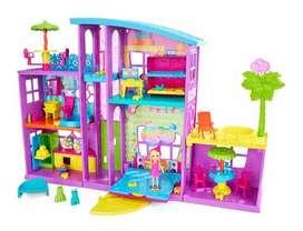 Polly Pocket Mega Casa De Sorpresas Juguetes Para Niñas Ros
