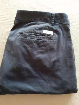 Pantalon chino azul bensimon