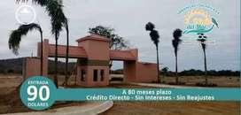 Venta de Terreno en Puerto Cayo/ Crédito Directo/ $90 de Entrada