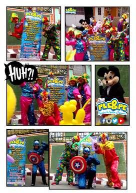 Recreaciones/ decoración/ baby shower/ piñateria/absesorios/personajes/titeres