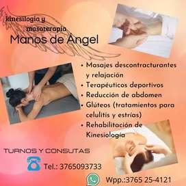 Rehabilitación de kinesiologia y masajes