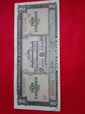 BILLETE DE EL SALVADOR